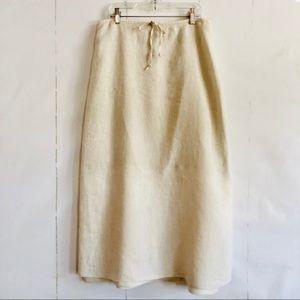Sundance Linen Maxi Skirt